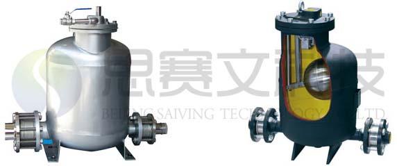 SVQD型气动冷凝水回收泵外形图和内部结构图